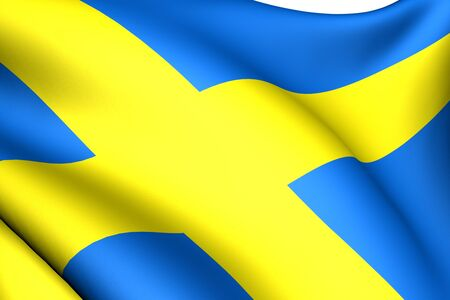Flag of Sweden against white background. Close up.  Stock Photo - 8754492
