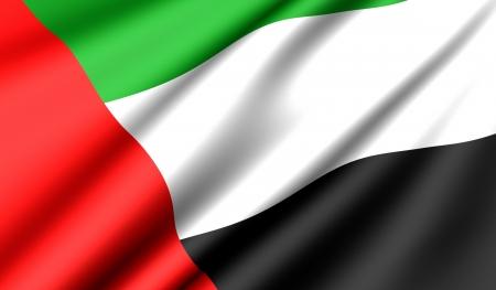 Flag of United Arab Emirates. Close up.