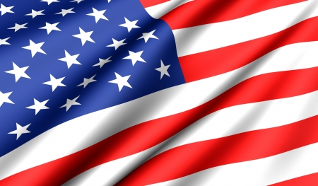 banderas america: Bandera de Estados Unidos. Cerrar. Vista frontal.  Foto de archivo