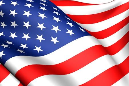 Vlag van de VS tegen witte achtergrond. Detailopname. Stockfoto - 8754514