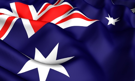 Flag of Australia. Close-up. Front view.  photo