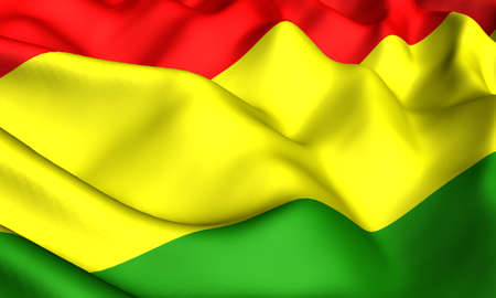 Flag of Bolivia. Close up. Front view.  photo