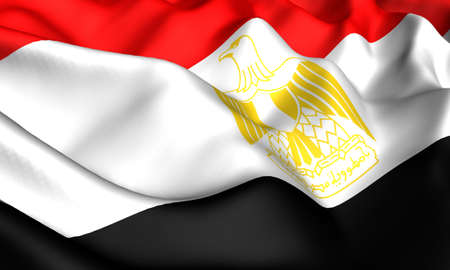 Flag of Egypt. Close up. Front view. photo
