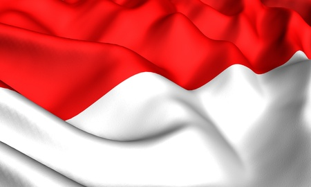 Flag of Indonesia. Close up. Front view. Stock Photo - 8754551