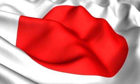 japanese flag: Flag of Japan. Close up. Front view.