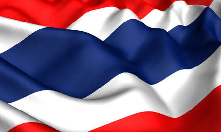Flag of Thailand. Close up. Front view.  photo
