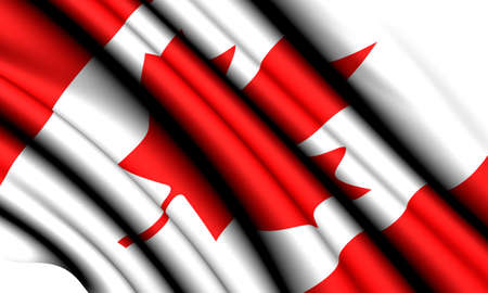 Flag of Canada against white background. Close up.  photo