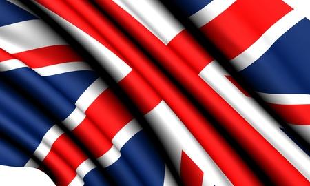 Flag of UK against white background. Close up.  photo