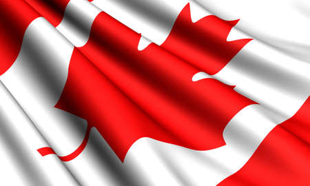 Flag of Canada. Close up.  photo