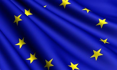 Flag of EU. Close up. Stock Photo - 8845814