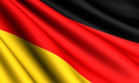 europe closeup: Flag of Germany. Close up.  Stock Photo