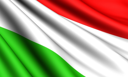 Flag of Hungary. Close up.  photo