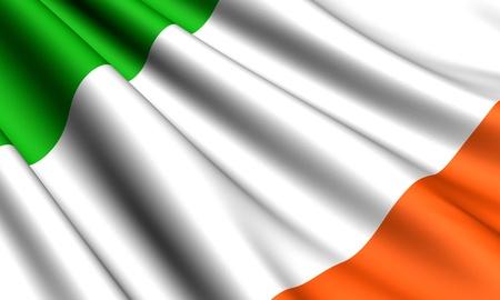 Flag of Ireland. Close up.  Stock Photo - 8845819