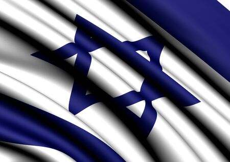 Flag of Israel. Close up. Stock Photo - 8845873