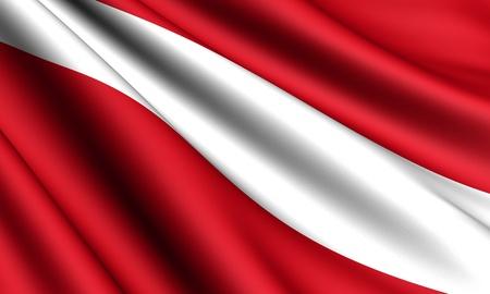 latvia: Flag of Latvia. Close up.  Stock Photo