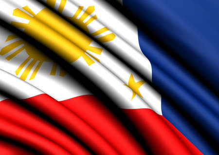 Flag of Philippines. Close up.  photo