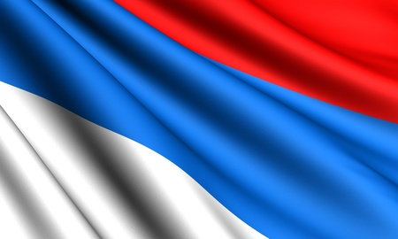 Flag of Serbia. Close up. Stock Photo - 8845837