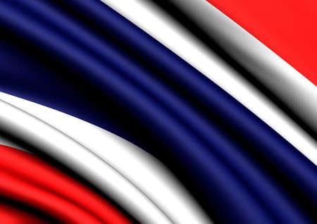 Flag of Thailand. Close up.  photo