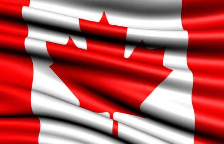 Flag of Canada. Close up.  photo
