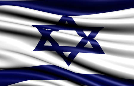 Flag of Israel. Close up.  Stock Photo - 8881263