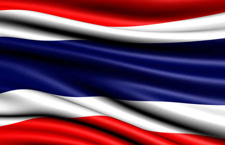 Flag of Thailand. Close up.  photo