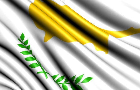 Flag of Cyprus. Close up.  photo