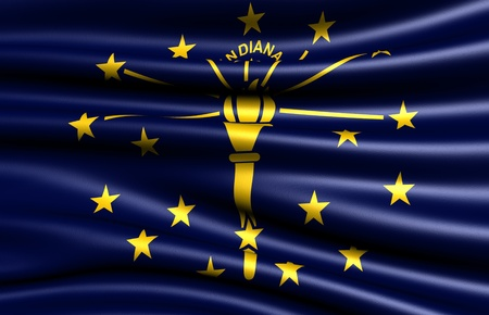 indiana: Flag of Indiana, USA. Close up.  Stock Photo