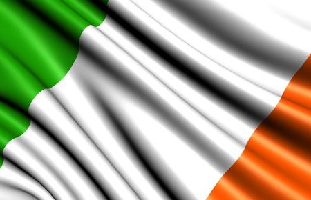 Flag of Ireland. Close up.  photo
