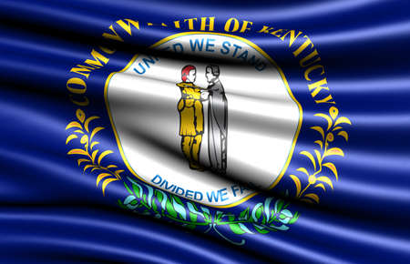 Flag of Kentucky, USA. Close up.  Stock Photo - 8937146