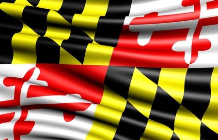 Flag of Maryland, USA. Close up.