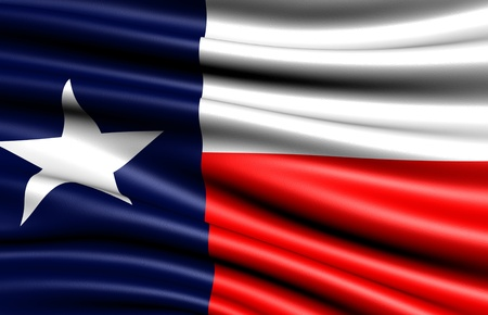 Flag of Texas, USA. Close up.