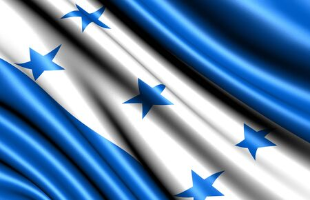 Flag of Honduras. Close up.  photo