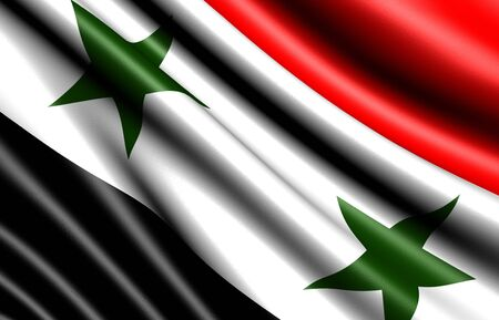 syria: Flagge von Syrien. Close up.