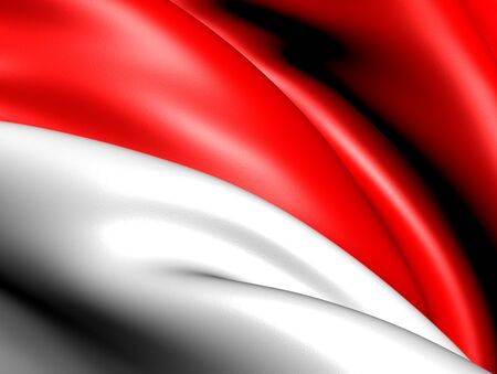 Flag of Indonesia. Close up. Stock Photo - 9216908