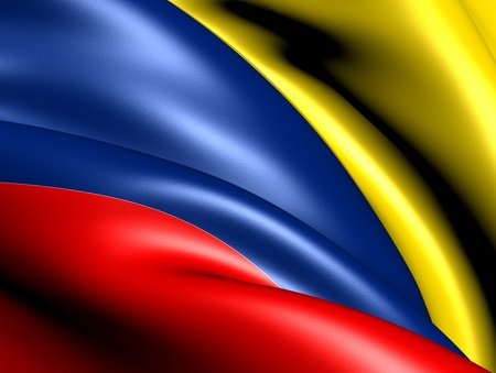 Flag of Colombia. Close up.  Banque d'images