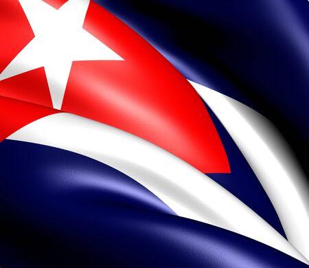 cuba flag: Flag of Cuba. Close up.