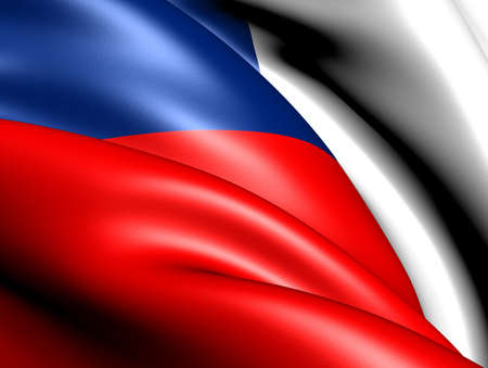 Flag of Czech republic. Close up.  photo