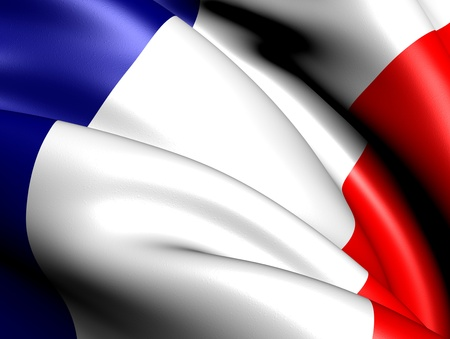 Flag of France. Close up.  photo