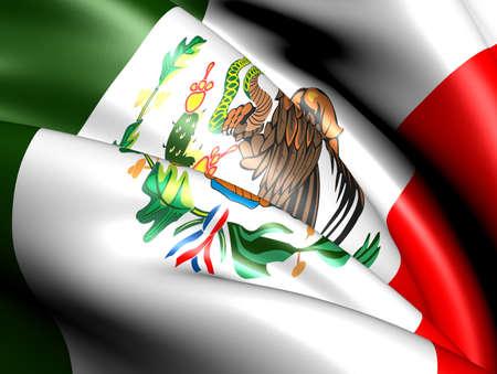 mexico flag: Flag of Mexico. Close up.