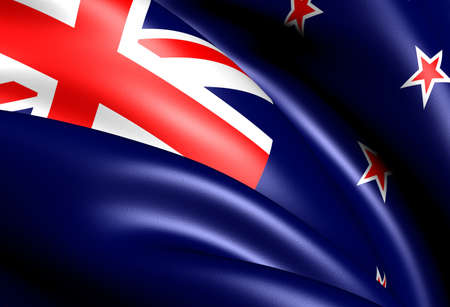 Flag of New Zealand. Close up.  photo