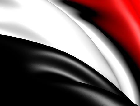 yemen: Flag of Yemen. Close up.
