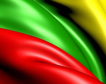 Flag of Lithuania. Close up. photo
