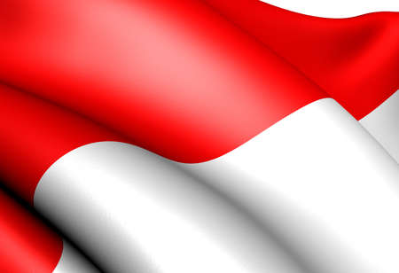 Flag of Indonesia. Close up.  Stock Photo - 9273689