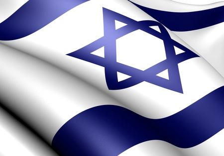 Flag of Israel. Close up.  Stock Photo - 9273688