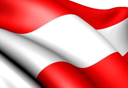 Flag of Austria against white background. Close up.  photo
