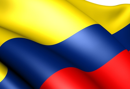 Flag of Colombia. Close up. Zdjęcie Seryjne - 9273719