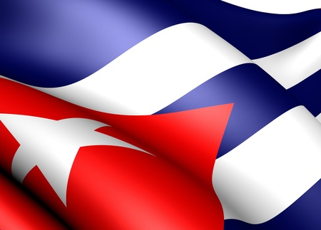Flag of Cuba. Close up.  photo