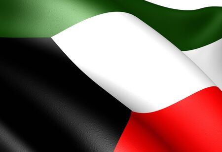 kuwait: Flag of Kuwait. Close up.