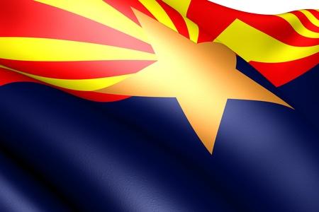 Flag of Arizona, USA. Close up.