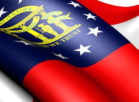 Flag of Georgia, USA . Close up.  photo